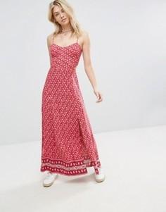 Платье макси с плиточным принтом Hollister - Красный