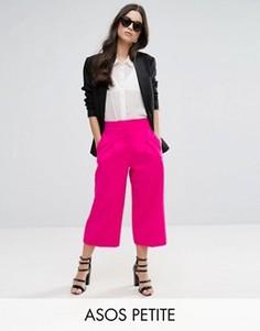 Юбка-брюки с эластичной вставкой ASOS PETITE Mansy - Розовый