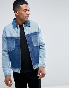 Джинсовая куртка со вставками Liquor & Poker - Синий