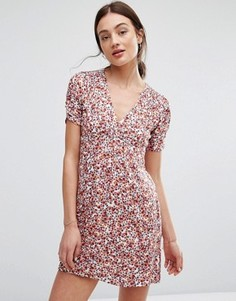 Летнее платье с цветочным принтом Newlily - Мульти