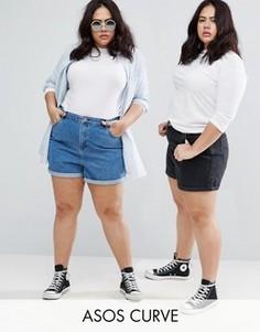 2 пары джинсовых шортов в винтажном стиле (синие, черные) ASOS CURVE - СКИДКА 14 - Мульти