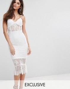 Кружевное платье с корсетом NaaNaa - Белый