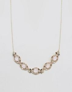 Золотистое ожерелье с камнями Johnny Loves Rosie - Золотой