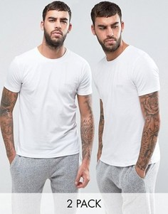 2 эластичные хлопковые футболки классического кроя BOSS By Hugo Boss - Белый