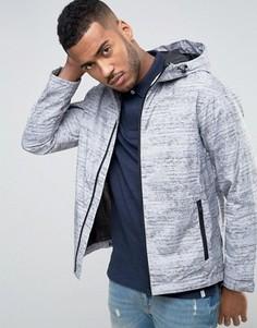 Куртка с капюшоном и меланжевым принтом Jack & Jones Core - Бежевый