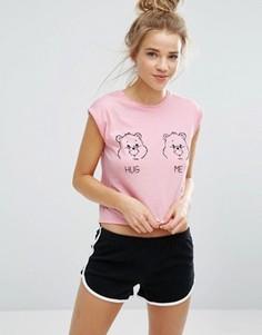 Футболка с мишкой Undiz Hugmiz Care Bear - Розовый