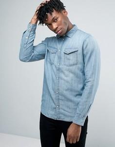 Джинсовая рубашка в стиле вестерн Pepe Jeans - Синий