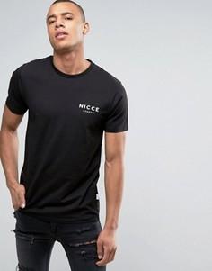 Черная футболка с логотипом на груди Nicce London - Черный