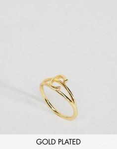 Кольцо с инициалом С Rock N Rose - Золотой