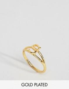 Кольцо с инициалом S Rock N Rose - Золотой