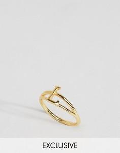 Кольцо с инициалом L Rock N Rose - Золотой