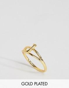 Кольцо с инициалом J Rock N Rose - Золотой