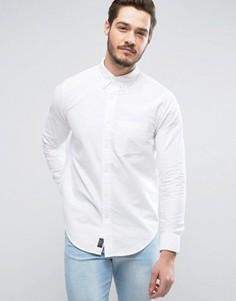 Белая приталенная оксфордская рубашка с одним карманом Abercrombie & Fitch - Белый