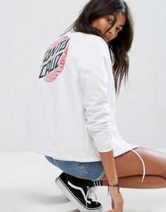 Спортивная куртка с принтом на спине Santa Cruz - Белый