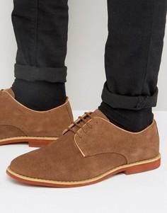 Светло-коричневые замшевые туфли дерби Silver Street Duke - Рыжий