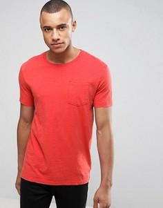 Фактурная футболка с карманом United Colors of Benetton - Оранжевый