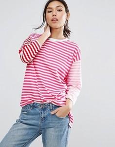 Oversize-футболка в полоску ASOS - Мульти