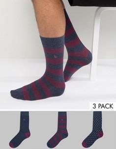 Набор из 3 пар носков в полоску Jack Wills Alandale - Красный