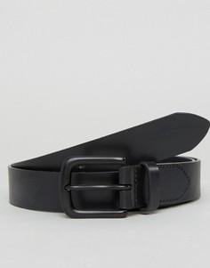 Черный кожаный ремень Jack Wills Hever - Черный