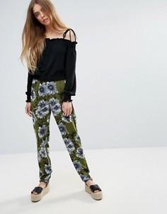 Свободные брюки с принтом First & I - Зеленый