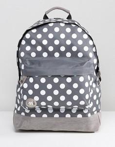 Рюкзак в белый горошек Mi-Pac - Серый