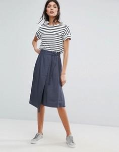 Юбка-шорты с запахом Selected Femme - Синий