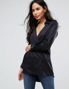 Рубашка с V-образным вырезом Closet London - Черный