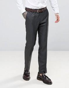 Саржевые брюки слим Harry Brown - Серый
