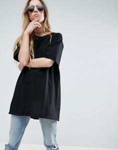 Oversize-футболка бойфренда ASOS - Черный