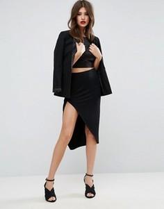 Запашная юбка-карандаш ASOS - Черный