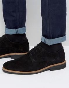 Черные замшевые туфли дерби Silver Street - Черный