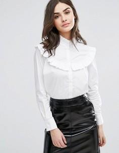 Рубашка с оборкой на лифе Y.A.S Lulu - Белый