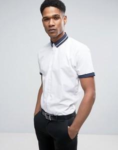 Строгая рубашка классического кроя с отделкой New Look - Белый