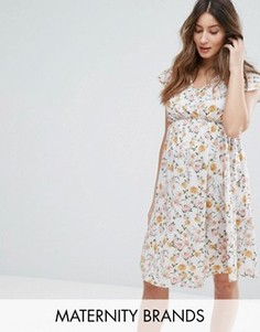 Платье с запахом и цветочным принтом Bluebelle Maternity Nursing - Мульти