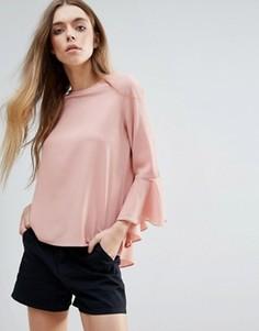 Топ с рукавами-клеш Brave Soul - Розовый