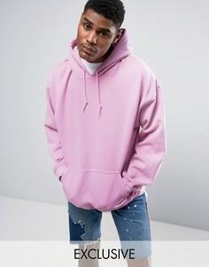 Oversize-худи из розового окрашенного трикотажа Reclaimed Vintage Inspired - Розовый