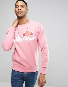 Свитшот с классическим логотипом Ellesse - Розовый