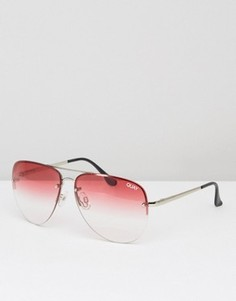 Солнцезащитные очки-авиаторы с эффектом деграде Quay Australia Muse - Розовый