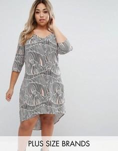 Цельнокройное платье с принтом Junarose - Мульти