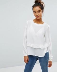 Блузка с рюшами Brave Soul - Кремовый