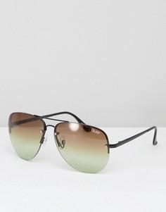 Солнцезащитные очки-авиаторы с эффектом деграде Quay Australia Muse - Коричневый