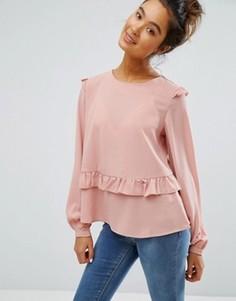 Блузка с рюшами Brave Soul - Розовый