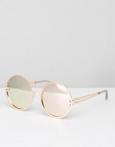 Круглые солнцезащитные очки Quay Australia Ukiyo - Золотой