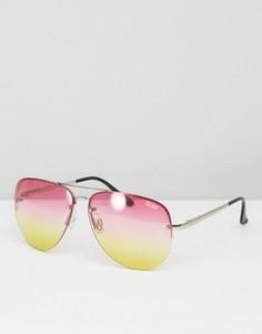 Солнцезащитные очки-авиаторы с эффектом деграде Quay Australia Muse - Мульти