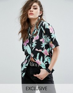 Гавайская рубашка с цветочным принтом Motel - Черный
