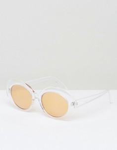 Овальные солнцезащитные очки в прозрачной оправе ASOS - Прозрачный