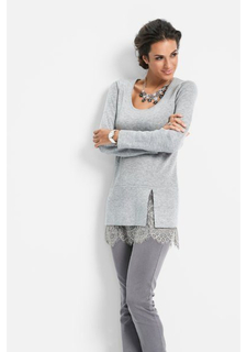 Удлиненный пуловер