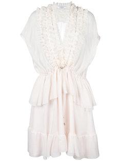 прозрачное платье с рюшами Givenchy