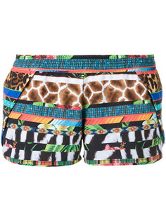printed shorts Blue Man