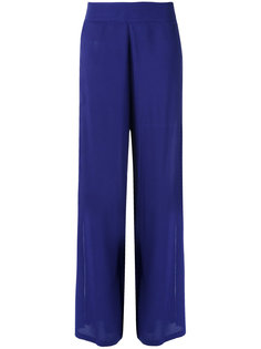 wide leg trousers Blue Man